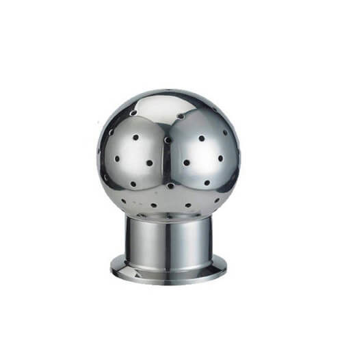 Fixed Tank Stainless Steel Cleaning Ball , Sanitary Tri Clamp Spray Ball