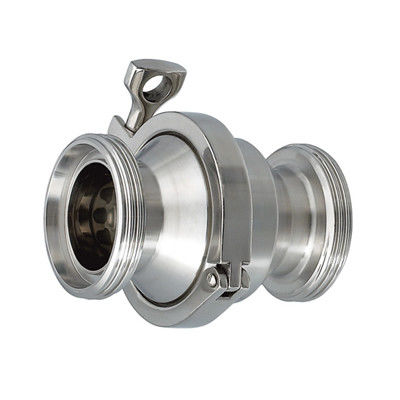 Stainless Steel 304 Sanitary Clamp End Non-Return Male Threaded Check Valve