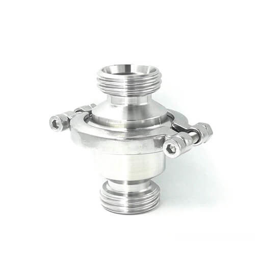 Sanitary SS304 316L Food Grade Male Threaded stainless steel non return valve
