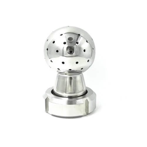 Stainless Steel Sanitary Rotating Cip Spray Ball For Tank Cleaning Union Type