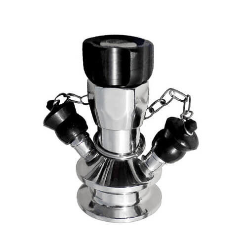 Manual Operated Hygienic Stainless Steel Valves With Tri Clamp Sample Inlet Connection