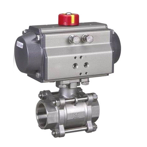 Hygienic Sanitary SS304,SS316L,3PC Threaded,Tri Clamp Ball Valve with Pneumatic Actuator