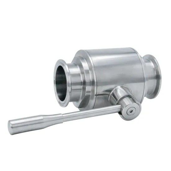 Hygienic Sanitary Stainless steel 304,316L Direct Way Manual Tri Clamped Ball Valve