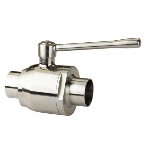 Hygienic Sanitary Stainless steel 304,316L Direct Way Manual Butt Welded Ball Valve