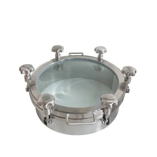 Sanitary Stainless Steel Round Full Sight Glass Manhole Covers with EPDM Gaskets