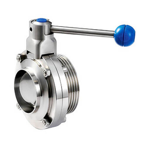 Sanitary stainless steel 304 316L butterfly valves With Thread And Weld Connection