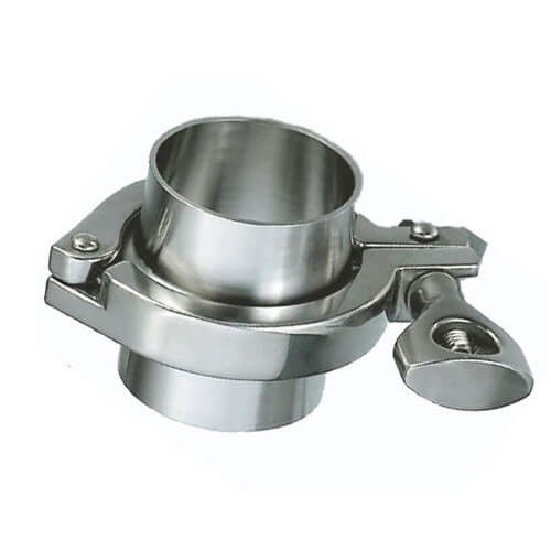 Sanitary Stainless Steel Single Pin Food Grade Tri Clamp Pipe fittings