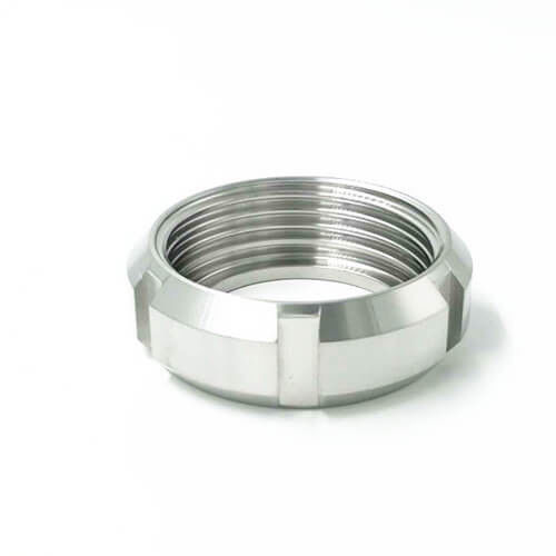 Sanitary Union Parts Stainless Steel SS 304 Round Nut Pipe Fitting