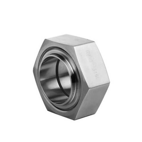Hygienic Sanitary Stainless Steel 304 316L IDF Hexagon Nut Union pipe fittings