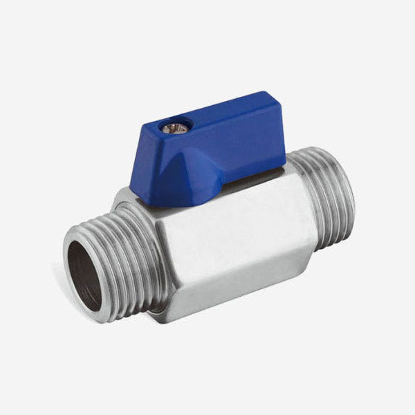 ISO CE Pass Mini Sanitary Ball Valve Male And Male NPT Threaded 1/2 Inch