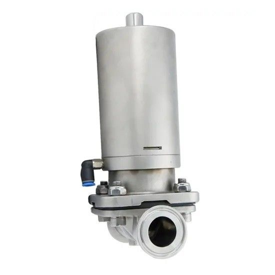 SS304 Stainless Steel Sanitary Tri-Clamped Diaphragm Valve with Pneumatic Mini Actuator
