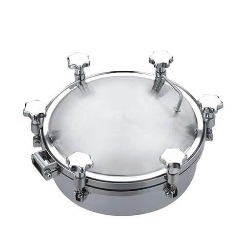 Sanitary Food Grade Stainless Steel Cover Tank Pressure Manway Manhole