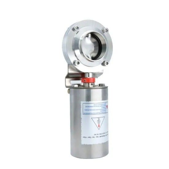Hygienic Sanitary Stainless Steel 304,316L welding type Butterfly Valve with Pneumatic Actuator