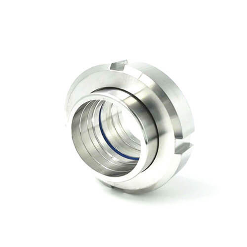 Sanitary Stainless Steel 304 316L Food Grade Union with Round Nut Pipe Fittings