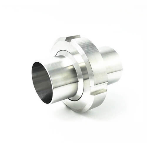 Sanitary Stainless Steel Food Grade Pipe Fittings Long type Union with Round Nut