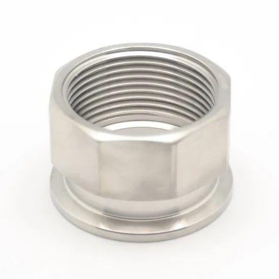 10 Inch Ss304 Ss316l Ferrule Adaptor Hygienic Food Grade 22mp Triclover NPT
