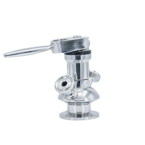 Sanitary food grade aseptic Mirror Polished Surface Sample Valve With PTFE Gaskets