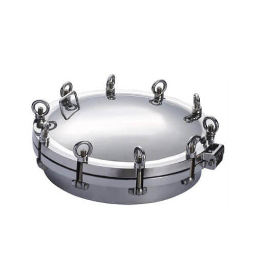 Stainless Steel 304 316L Sanitary Round Tank Manway Manhole Door Cover