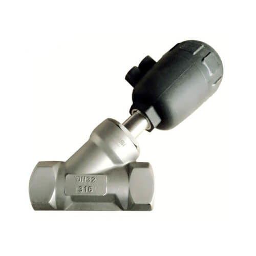 Hygienic Sanitary Stainless Steel Pneumatic Actuator Angle Seat Valve
