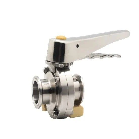 Sanitary 316L Hygienic Tri Clamped Butterfly Valve with Ss Muti-Position Handle