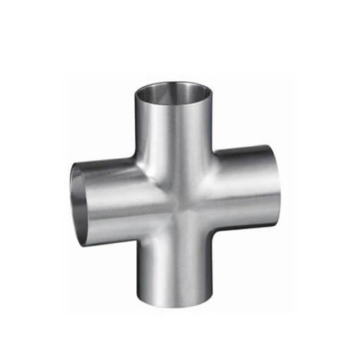 Food grade Sanitary SS316L Mirror Polish Surface Welded type Equal Cross