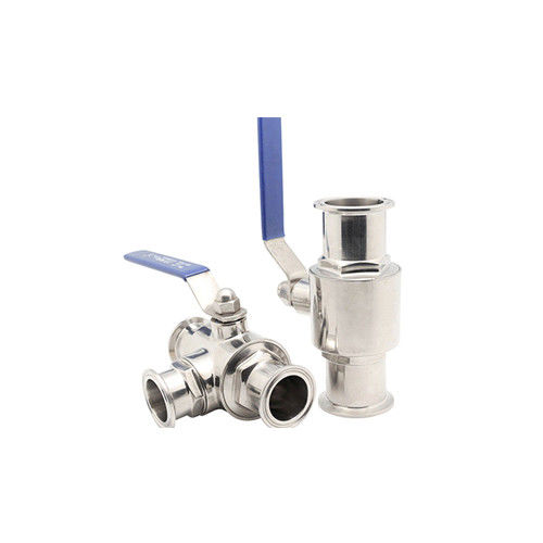 Hygienic Food Grade Food Grade Stainless Steel304 316L Tri Clamped 3 Way Ball Valve