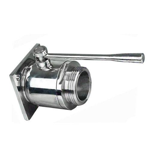 Stainless Steel Single Flanged Single Threaded Hygienic Sanitary Ball Valve