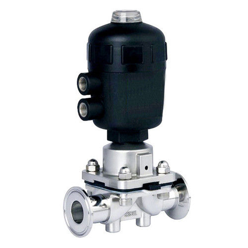 Sanitary Stainless Steel Casting Tri-Clamp Diaphragm Valve with Pneumatic Actuator