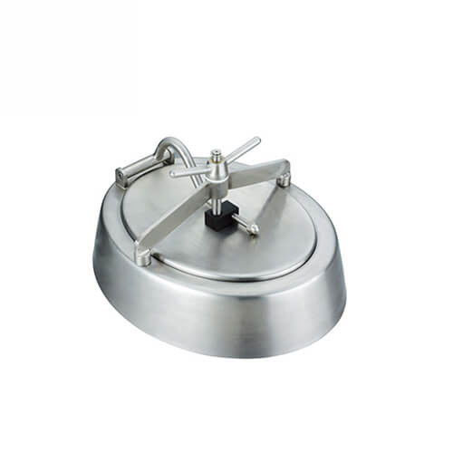 Sanitary stainless steel 316L Non-Pressure Elliptical Manhole Cover for Tank