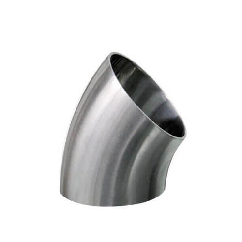 Sanitary Stainless Steel Polish Welded Elbow bend Pipe Fitting