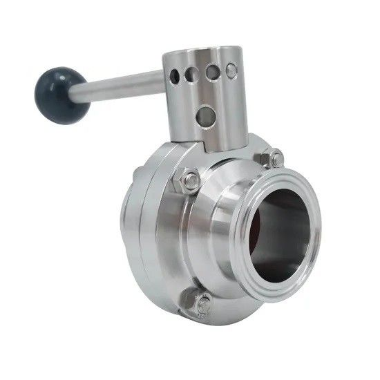 Hygienic Stainless Steel 304 316L Sanitary Tri Clamp Butterfly Valve Manual