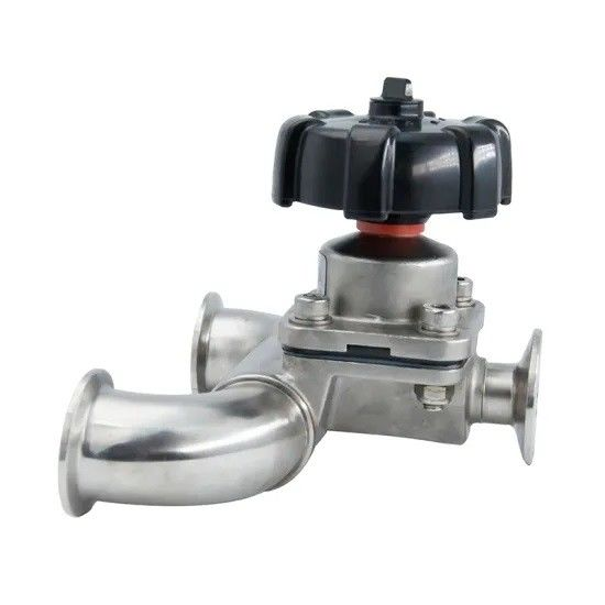 Manual / Pneumatic Sanitary U Type Diaphragm Valves With Clamped Butt-Weld Ends