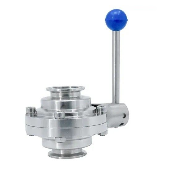 Manual Clamped Butterfly Type Sanitary Ball Valve With Pull Handle