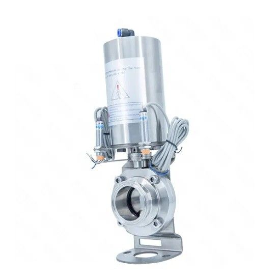Hygienic Sanitary Stainless Steel Food Grade Butterfly Type Tri Clamp Ball Valve with Pneumatic Actuator