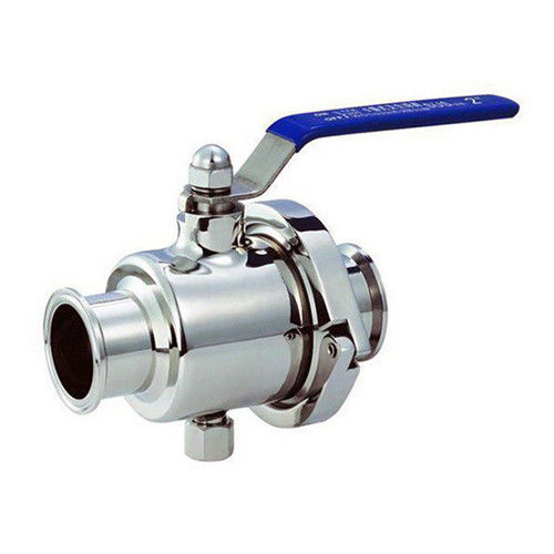 Manual Pneumatic Clamp Direct Way Sanitary High Purity Ball Valve tri-clamped end for Diary Processing