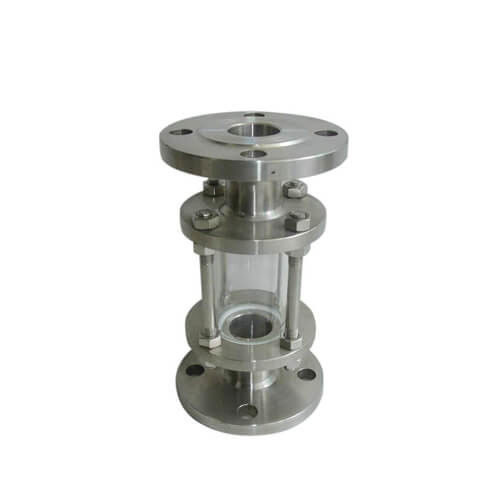 Full Bore Sanitary Sight Glass Flange Type , 304 316L Stainless Sight Glass