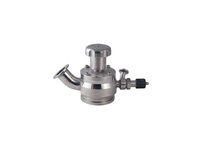 Aseptic Sanitary Sample Valve With PTFE Gaskets , Sanitary Pneumatic Valve