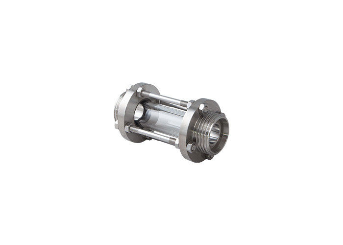 Hygienic Sanitary ss304 male Thread Tubular Sight Glass with Protective Steel Net