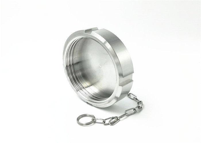 FDA Ss316l Grade Ferrule Adaptor Hygienic Union Blind Nut With Chain