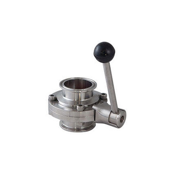 Hygienic Stainless Steel Sanitary Threaded Butterfly Valve with Ss Handles