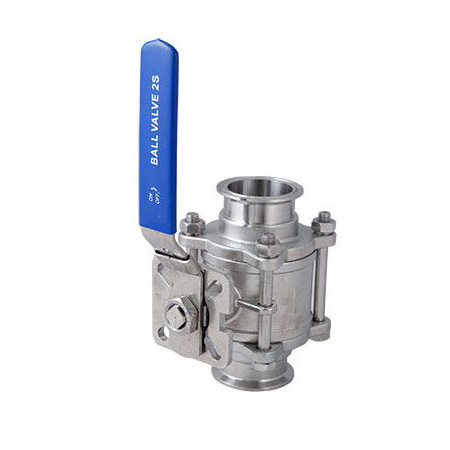 Sanitary SS304,SS316,CF8M Tri-Clamp Ball Valves,1000WOG,ISO5211 Mounting pad,lever