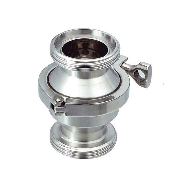 Sanitary SS316L Threaded Non return Check Valve With Clamp type Connection
